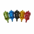 Aluminum Universal Inline Fuel Filter (Multiple Color Choices)