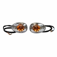 Amber Front Turn Signal Lights with Clear Lenses (Set of 2)