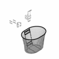 Basket Assemblies with Mounting Hardware