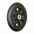 Black Front Anti-Tip Wheel Assembly for the Jazzy Select