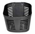 Black Plastic Oval Basket with Mounting Hardware for Go-Go Travel Scooters
