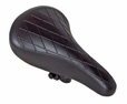 Black Quilted Racing Saddle Seat for Bikes & Scooters (Sunlite)