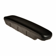 Black Vinyl Full Length Armrest Pad for the Jazzy Select Elite with the Comfort Seat