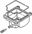 Carburetor Float Chamber for Honda Elite 250 (1985-1988 Models) and Helix CN250 (All Models) (OEM)
