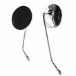 Chrome Round Mirror Set for Scooters
