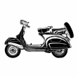 Classic Scooter Wall Sticker