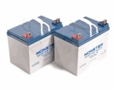 Dalton Battery Pack - Set of 2 U1 (35 Ah) Scooter Batteries