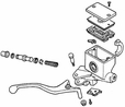 Front Brake Master Cylinder Assembly for Honda Helix CN250 (1986-1987 Models) (OEM)