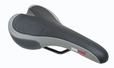 Gray and Silver Gel Saddle Seat for Bikes & Scooters (Sunlite)