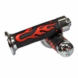 Universal Scooter Handlebar Grip Set with Skull & Flames