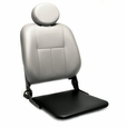 Hi-Back Deluxe Contour Limited Recline Solid Seat Pan Vinyl Seat Assembly for Pride Scooters and Jazzy Power Chairs