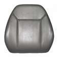 Hi-Back Low-Profile Gray Vinyl Seat Back  for Jazzy Power Chairs