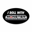 """I Roll with Monster Scooter Parts"" Sticker"