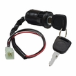 3 Wire Ignition Key Switch for ATVs & Dirt Bikes (Snap-In Mount)