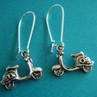 Motor Scooter Earring Set