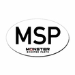 """MSP"" White Logo Sticker"