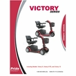 Owner's Manual for Pride Victory 9 and Victory 10