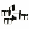 Plastic Cup Holder for Wheelchairs, Mobility Scooters, & Power Chairs (Diestco)