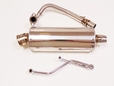 Oval Stainless Steel Exhaust Kit for 50cc & 80cc Scooters (MMG)
