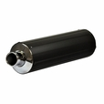 Universal Black Muffler/Silencer for 2-Stroke 50cc Scooters