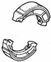 Rear Brake Shoe Kit for Honda Elite 250 (1987-1990 Models) and Helix CN250 (1986-2001 Models) (OEM)