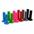 Rubber Waffle Style Handlebar Grip Set for Scooters, ATVs, & Dirt Bikes (Multiple Color Choices)