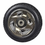 **Scratch & Dent** 220x75 Solid Black Front Wheel Assembly for the Golden Technologies Companion I & II (GC240 and GC340)