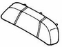 Seat Back Assembly for Honda Helix CN250 (1986-1995 Models) (OEM)
