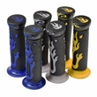Universal Handlebar Grip Set with Flames (Multiple Color Choices)