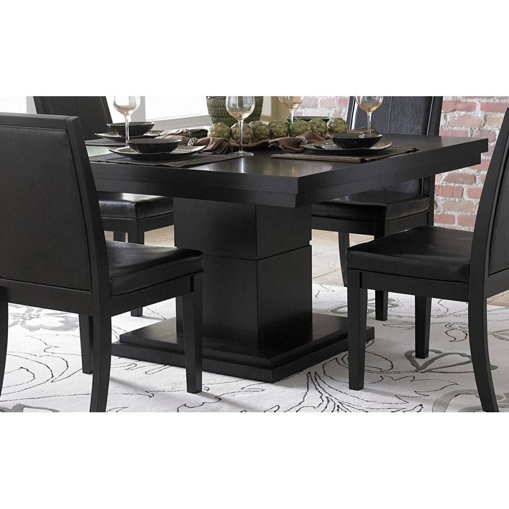 cicero modern black square pedestal dining table