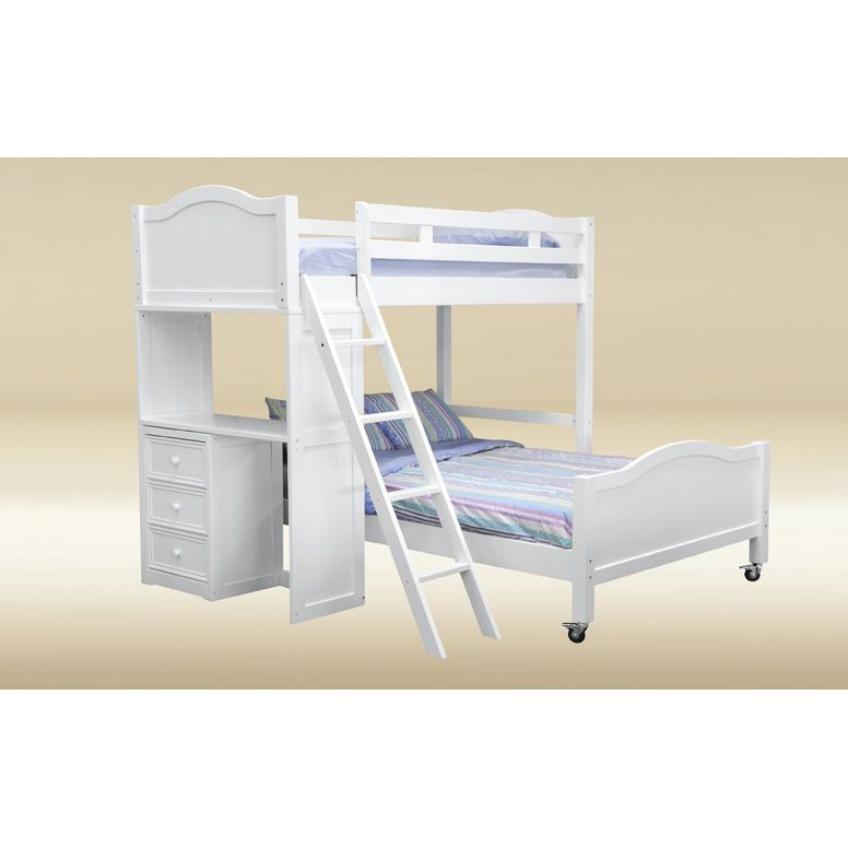 Loft Bunk Bed with Desk White 776 x 776