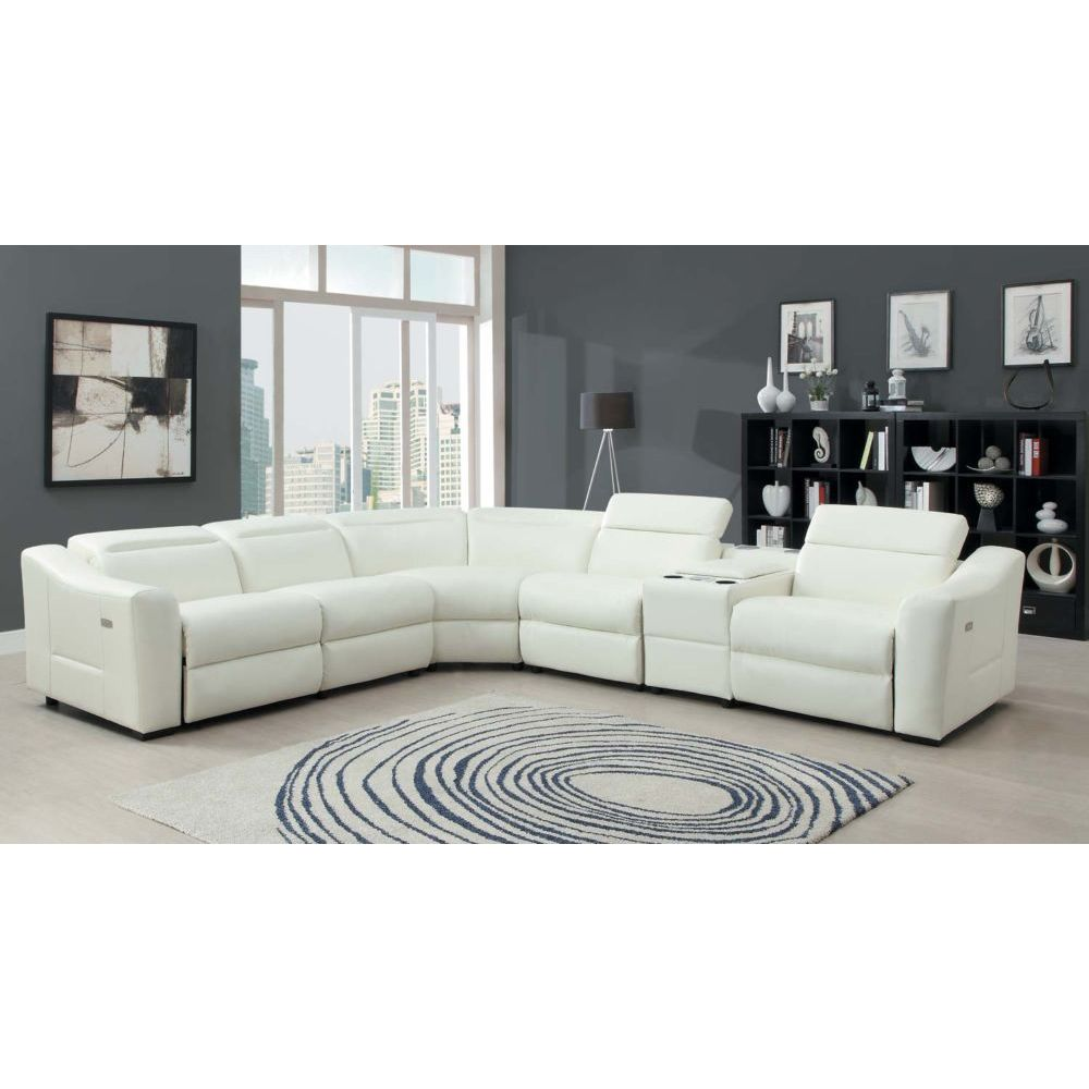White Leather Sectional Sofa And Black Area Rugs Also