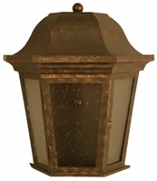 Adamo Outdoor Wall Sconce Brass Lantern-Medium [CLOSE OUT]