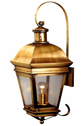 American Legacy Copper Lantern Wall Light with Bracket &amp Scroll