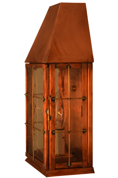 Blake Wall Sconce Electric Copper Lantern Light For Sale