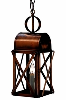 Bunker Hill Pendant Colonial Copper Lantern