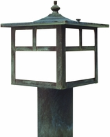 California Mission Post Light Outdoor Copper Lantern