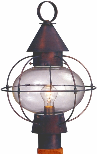 Cape Cod Onion Post Light Copper Lantern