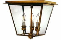 Carolina Colonial Flush Mount Copper Ceiling Light