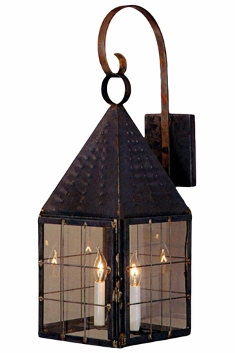 Colonial New England Wall Light with Bracket Copper Lantern