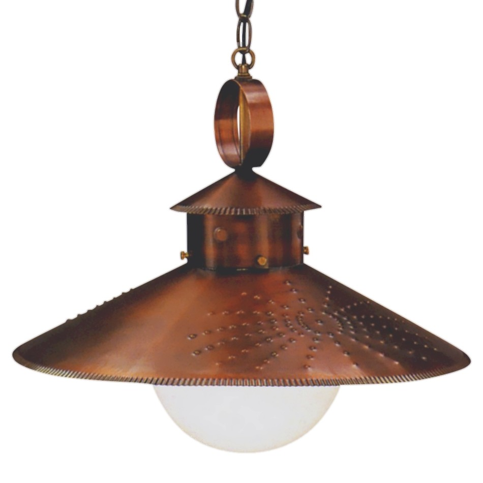 Copper Pendant Lights Kitchen Country Kitchen Rustic Copper Pendant Hanging Barn Light