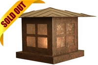 Custom Pier-Base Column Mount Mission Style Steel Lantern [CLOSE OUT]