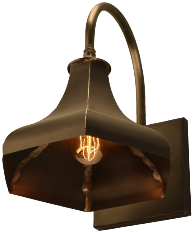 Outdoor Wall Mounted Lights For Sale: Gatsby Electric Copper Industrial Barn Light For Sale