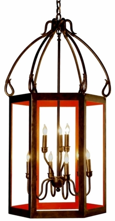 Harrison Open Cage Hanging Iron Lantern [CLOSE OUT]