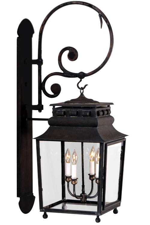 "As shown:<br> Finish: <b>Dark Copper</b><br> Glass: <b>Clear</b><br> Size: <b>Large - 39"" H x 14"" W x 19"" D</b><br> Sockets: <b>4-60W Candelabra Sockets</b><br>"