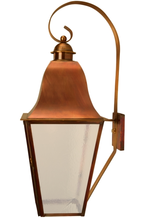 "<span style=""text-align:left;""> <b>Keene Wall Light with Bracket - Side View</b><br> As shown:<br> Finish: <b>Flammed Copper</b><br> Glass: <b>Seeded</b><br> Size: <b>Large - 28.5"" H x 9.5"" W x 13"" D</b><br> Sockets: <b>1-60W Medium Socket</b><br><br> <b>Custom Version</b><br> <ul style=""width: 300px;float: left;margin-left:20px""><li style=""margin-bottom: 10px;"">Modified to meet Dark Sky requirements with bulb in roof of fixture facing downward.</li><li>Extra wide scroll</li></ul></span>"