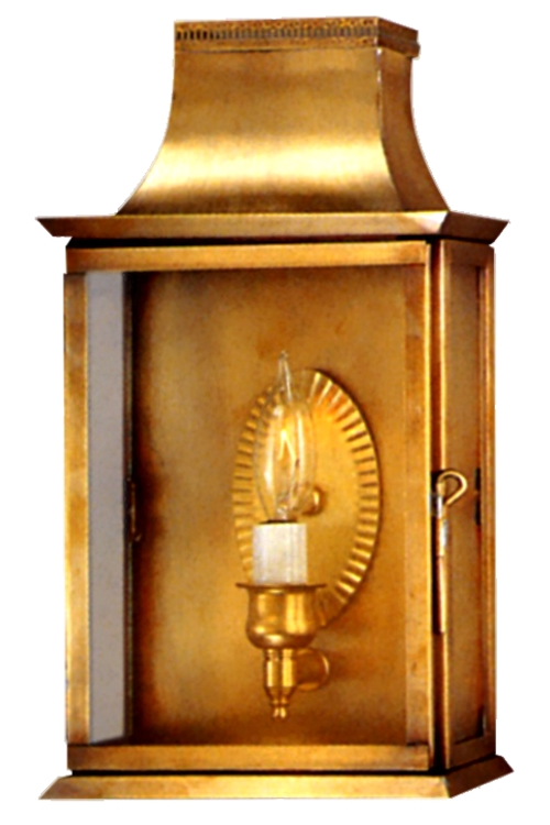 "<span class=""c6"">Patrice Wall Sconce <br>Size:<b> Small</b> <br>Sockets:<b> 1-60W Candelabra Base</b> <br>Finish:<b> Antique Brass</b> <br>Glass:<b> Clear</b> </span>"