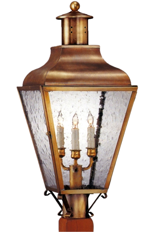 Portland Colonial Copper Lantern Electric Post Light Head