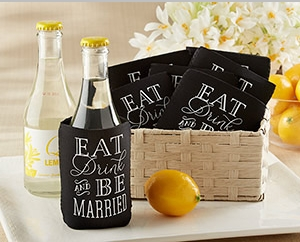 """Eat, Drink & Be Married"" Collapsible Cold-Can Koozie (Set of 12)"" title=""""Eat, Drink & Be Married"" Collapsible Cold-Can Koozie (Set of 12)"