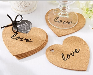 """Heart"" Cork Coasters (Set of 4)"" title=""""Heart"" Cork Coasters (Set of 4)"